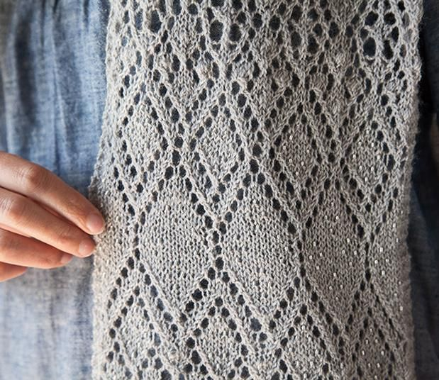Learn to Knit Lace Scarf - Knitting Patterns and Crochet Patterns ...