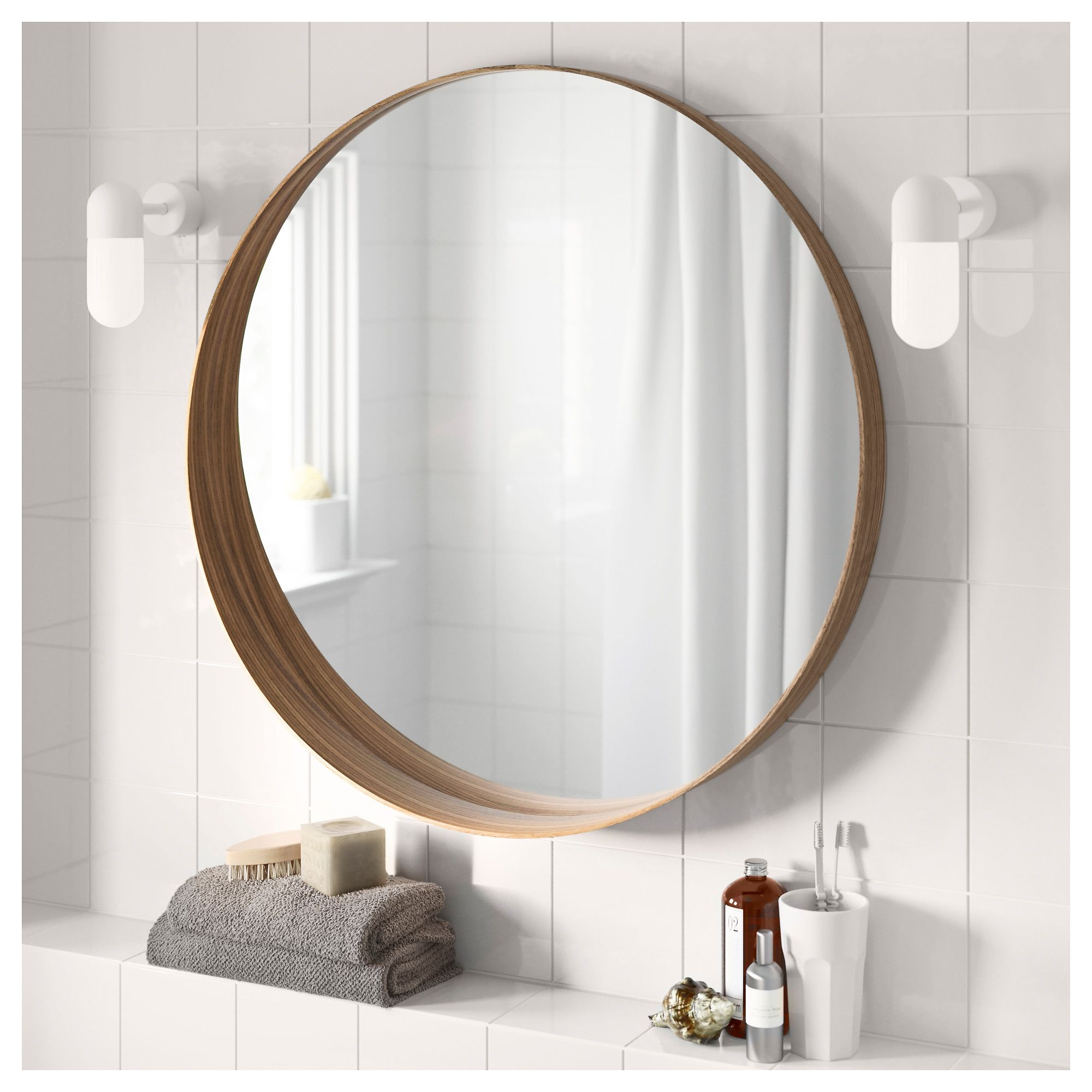 "Safety Mirrors For Bathrooms: Image Result For Walnut 3"" Frame Mirror Bathroom"