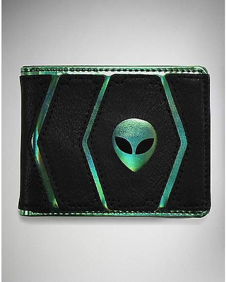 40d219522 Iridescent Alien Bifold Wallet - Spencer's | thingz I want ...