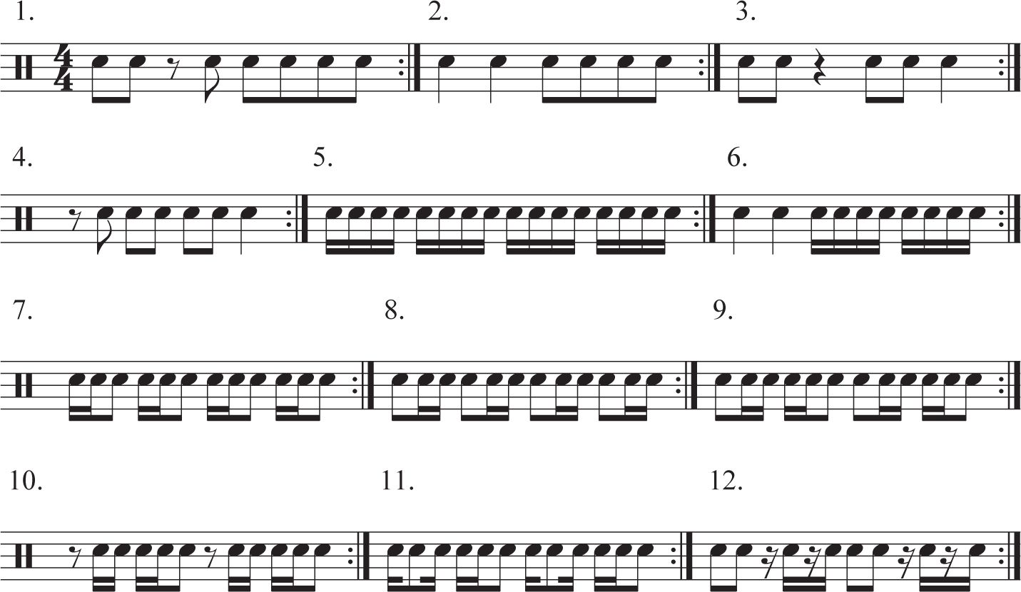 Snare Drum Beginner Sheet Music Simple Fills On The Snare Drum