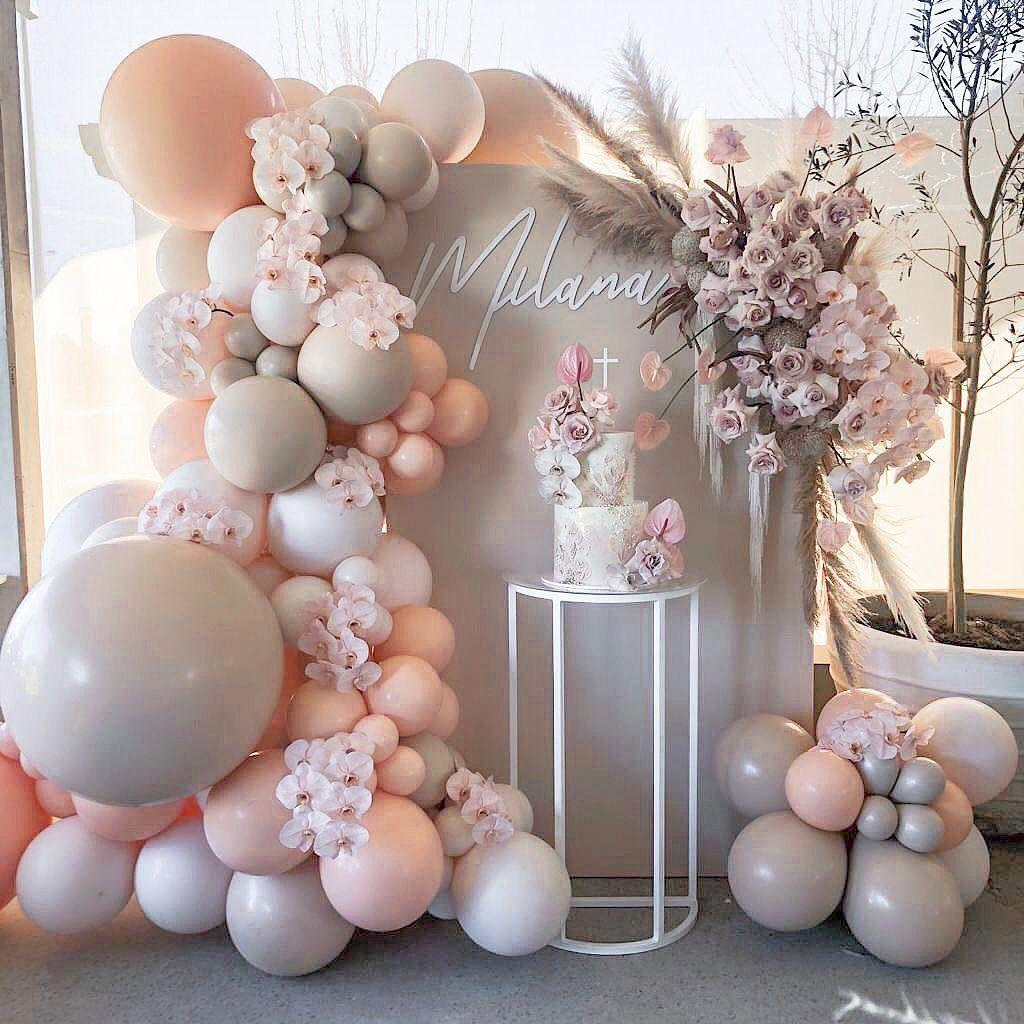 Engagement Photo Prop Confetti Balloons Copper Wedding Decor Peach Baby Shower Peach balloons Blush Wedding Decor Engagement Balloons