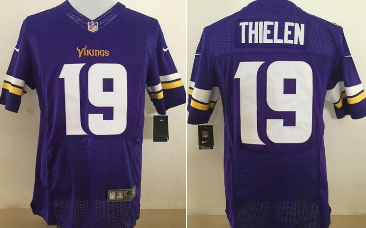 Men Minnesota Vikings 19 Thielen Purple Nike Elite NFL Jerseys ... 40ecb4f04