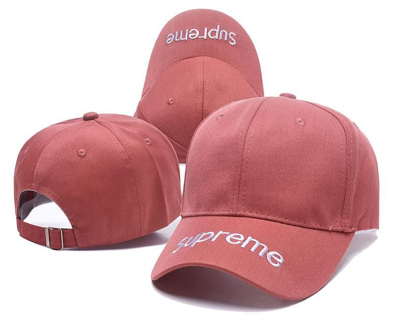 cc919a820d985 Men s   Women s Supreme Logo Embroidery On Visor Curved Dad Hat - Red (Copy  Ori)