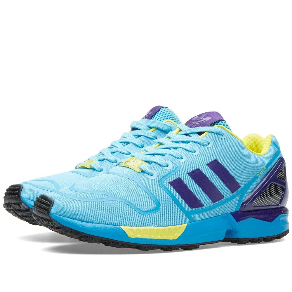outlet store 22a4f a1a20 Adidas ZX Flux Techfit (Bright Cyan   Purple)