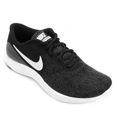 91d1491ef84 Para uma corrida mais natural aposte no Tênis Nike Flex Contact Preto e  Branco! Com