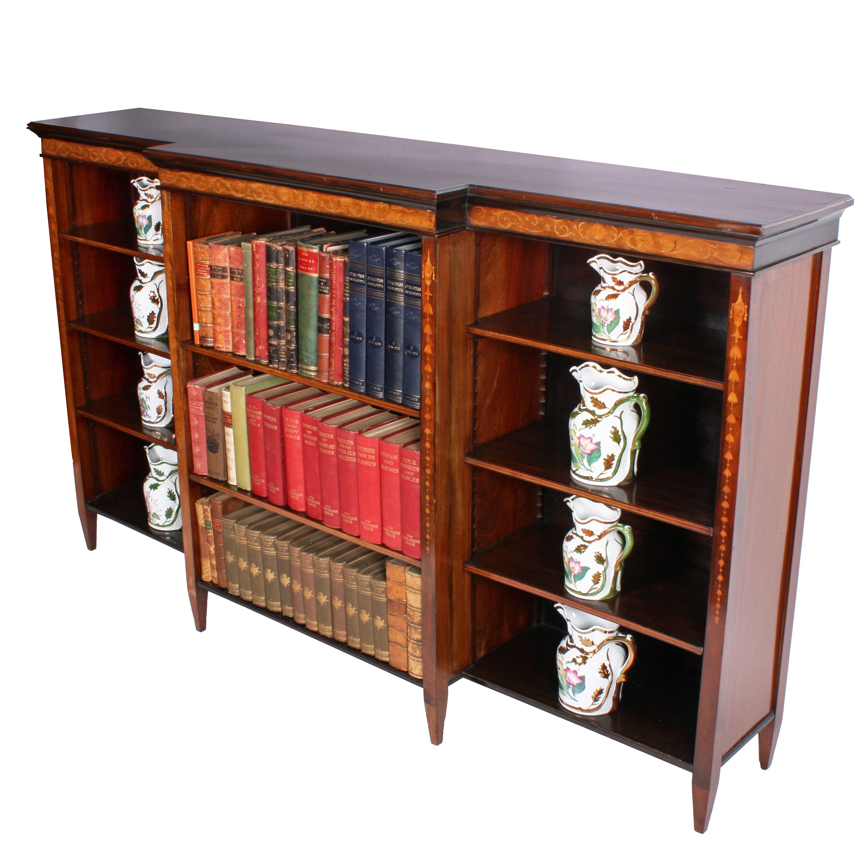 Victorian Breakfront Open Bookcase With Images Open Bookcase
