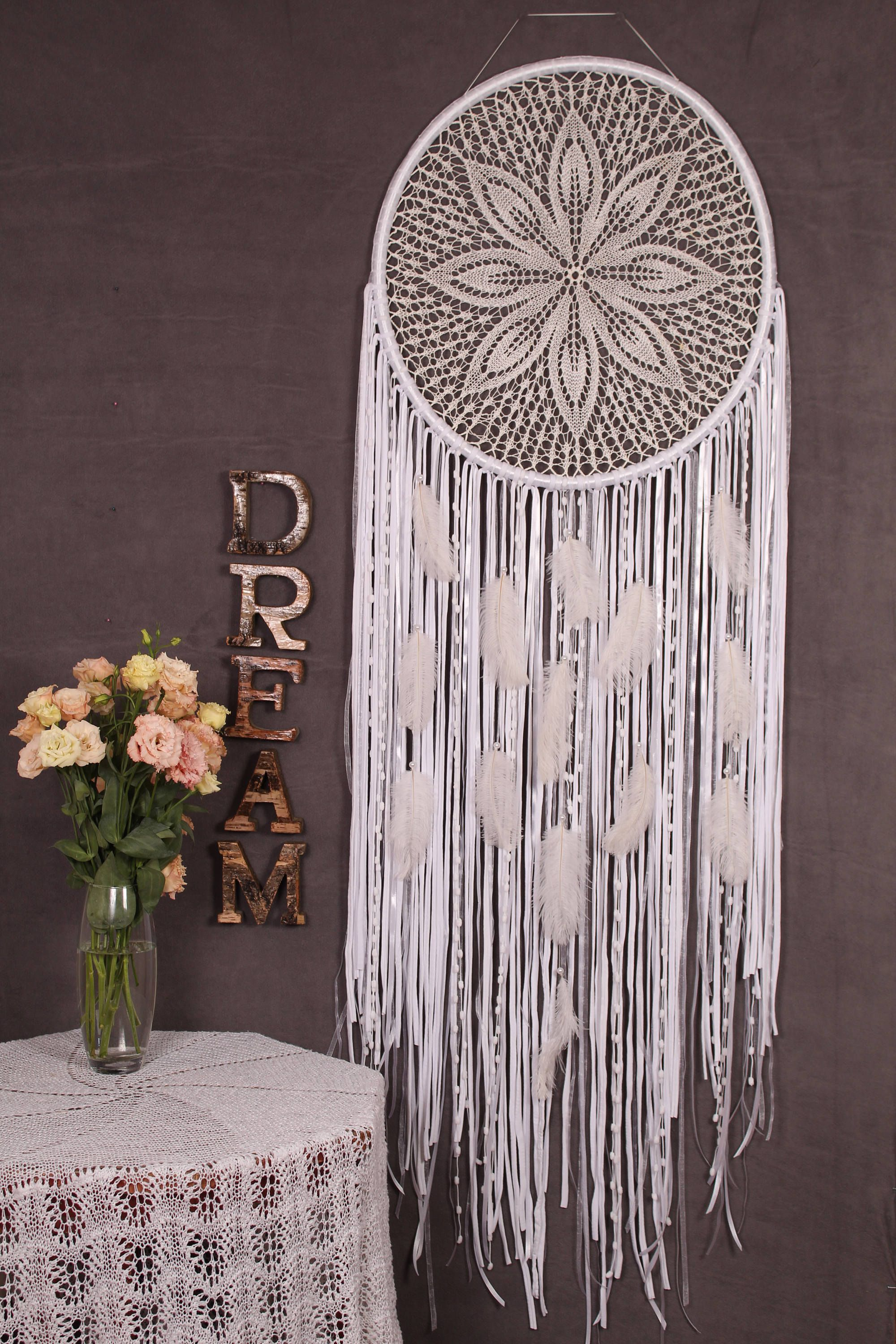 Big Wedding Dreamcatcher Large Giant lace oversized ...