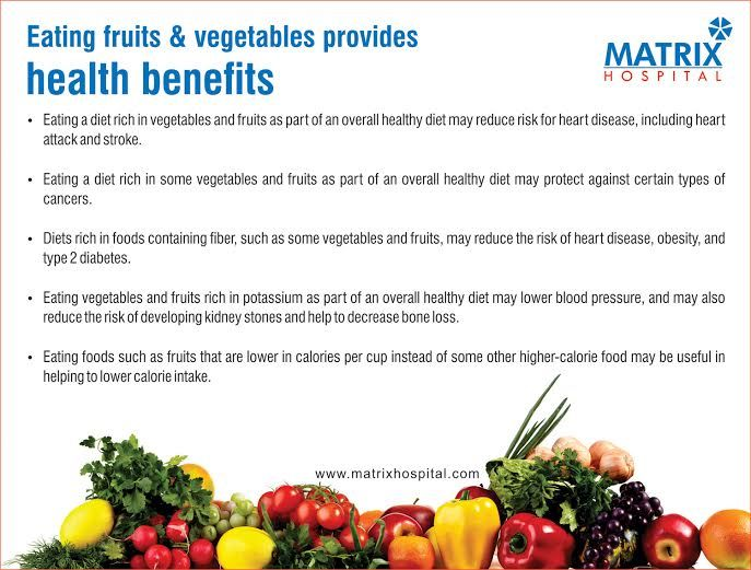 benefits of eating fruits and vegetables Fruits and vegetables are classified from both a botanical and  at the  differences between fruits and vegetables, and the health benefits they can  provide  several studies have found that eating more fruits and vegetables is.