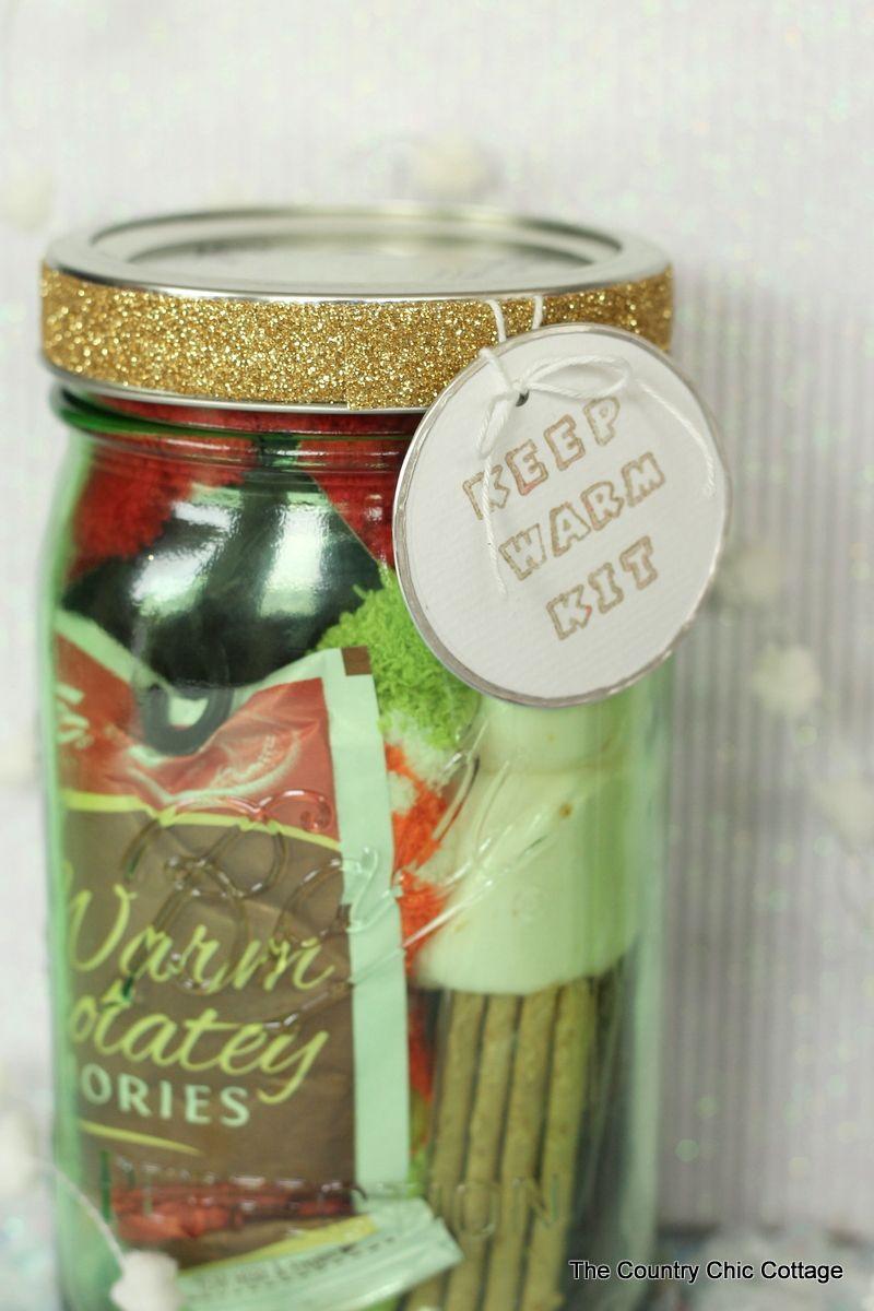 Gifts In A Jar Keep Warm Kit Jar Gifts Christmas Jar Gifts Mason Jar Gifts