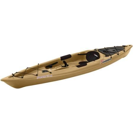 Sun Dolphin Journey 12' Siton Fishing Kayak, Paddle