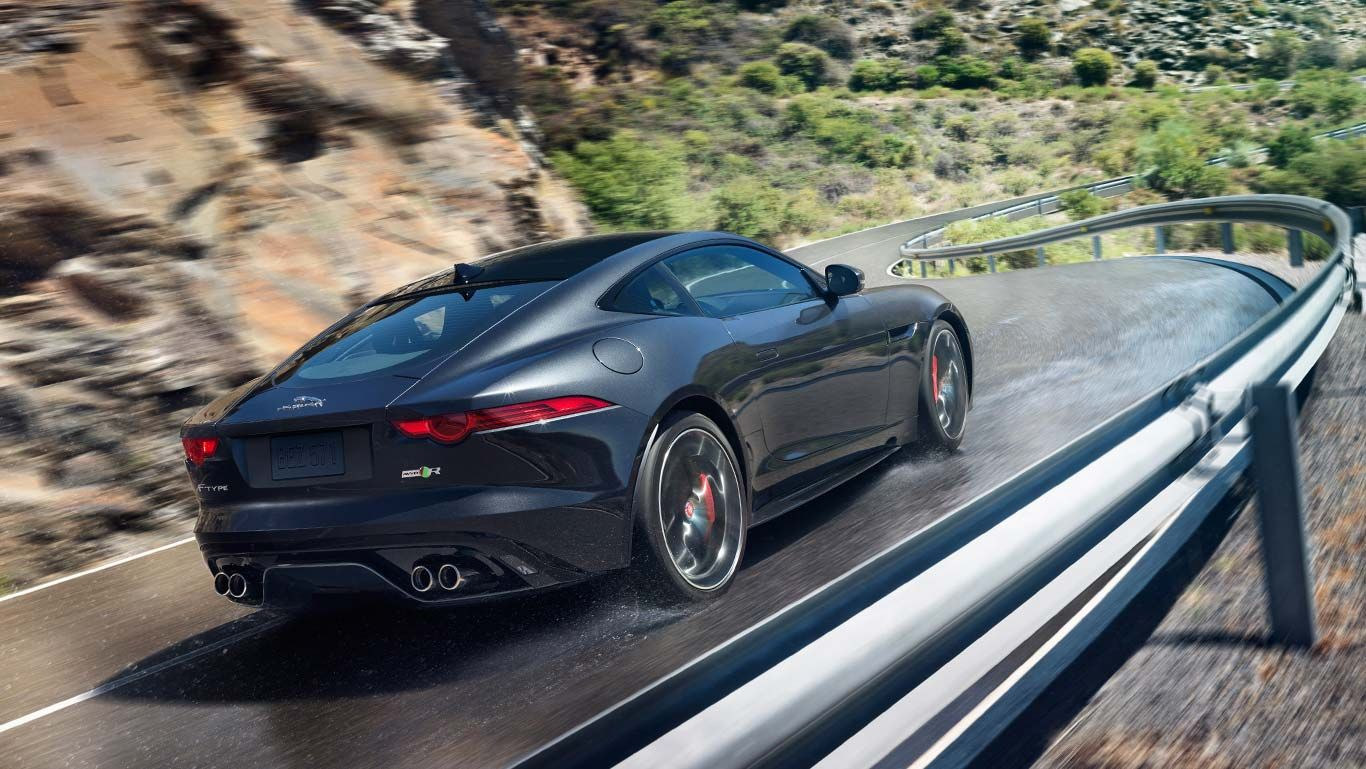 Jaguar f type r coupe shown in storm grey