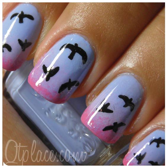 Bird nail art tutorial + pictures   Qtplace - Bird Nail Art Tutorial + Pictures Qtplace Nailed It! Pinterest
