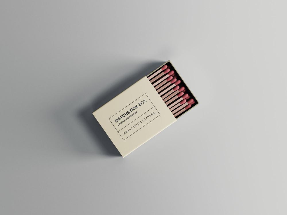 Download Matchstick Box Mockup Candle Mockup Box Mockup Packaging Mockup