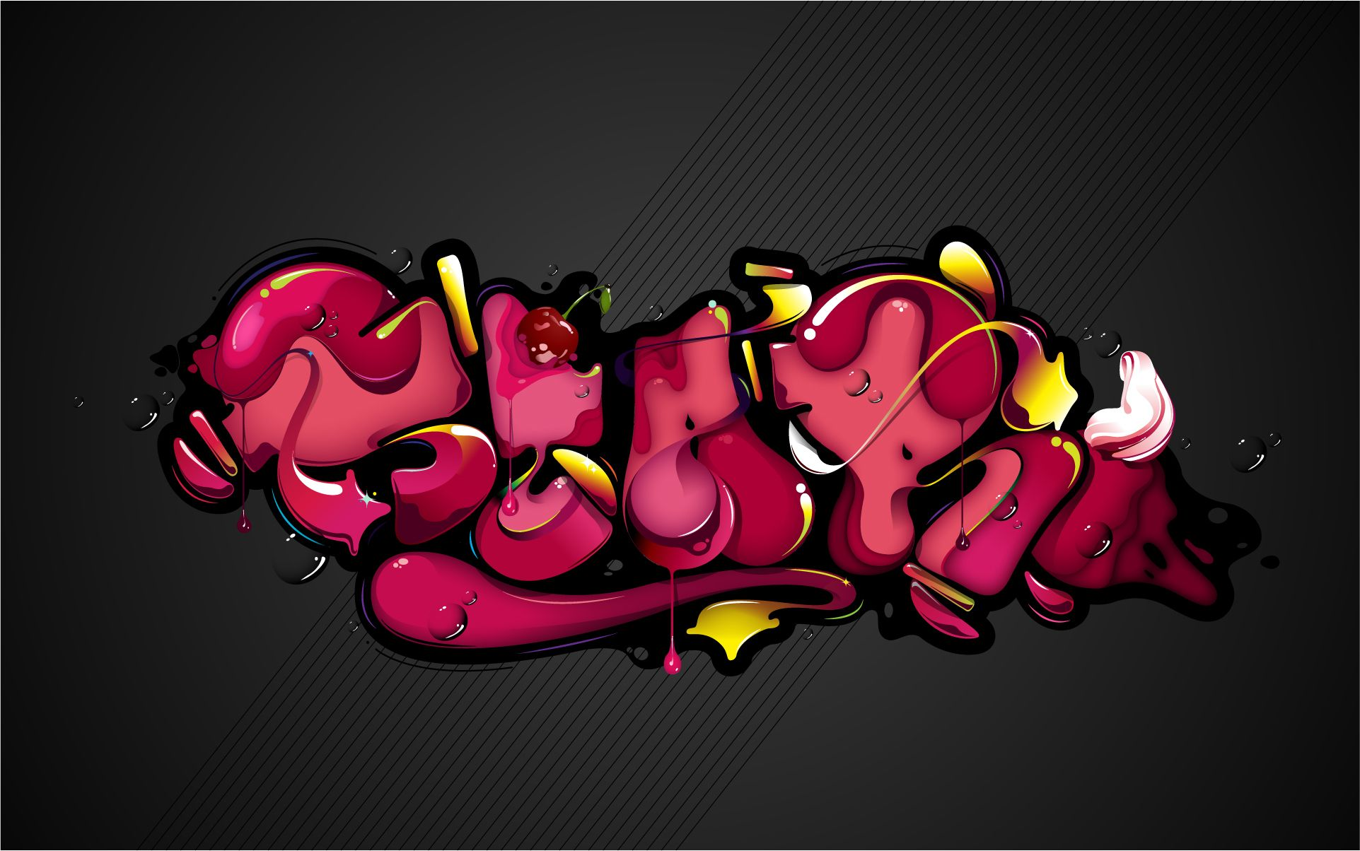 Graffiti art background - Cg Digital Art 3d Graffiti Color Urban Wallpaper Background