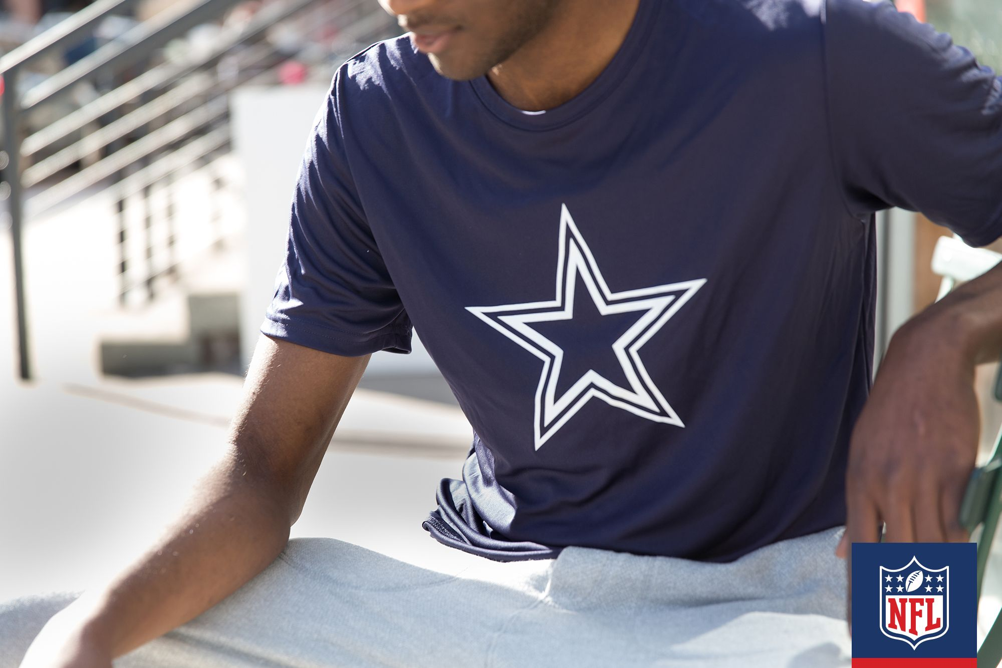 c16ab45044bafd Let the world know how much you love America's team with this Cowboys blue  tee.