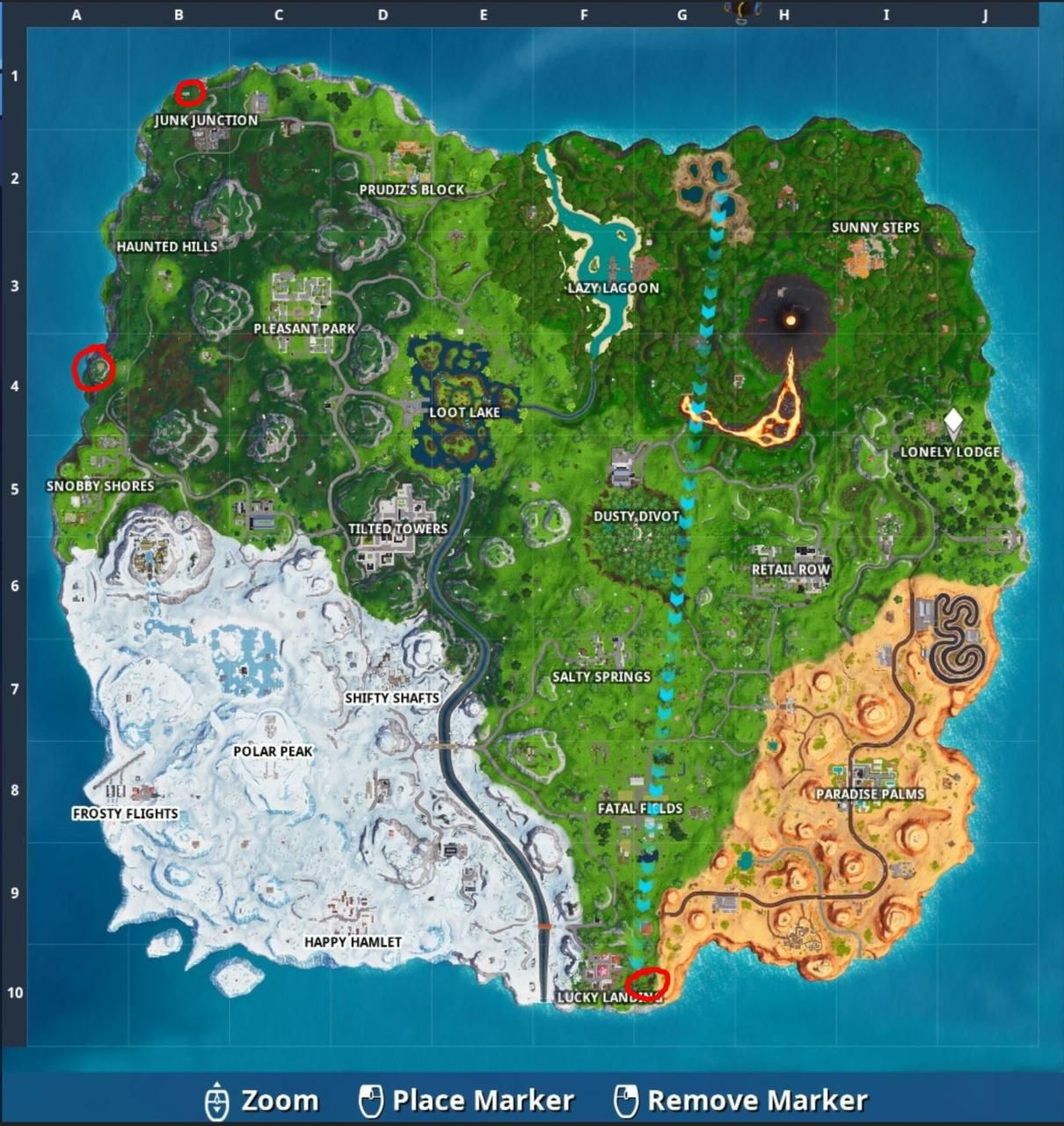 Fortnite Week 6 Where To Visit Wooden Rabbit Stone Pig And