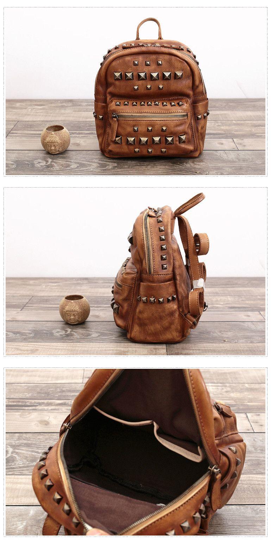 ... Travel Rucksack School Backpack 14 Laptop Bag AK10  Tote Cross body Bag  Handmade Full Grain Leather Designer Tote Bags F03 release date  052bb ... e2efc834a9
