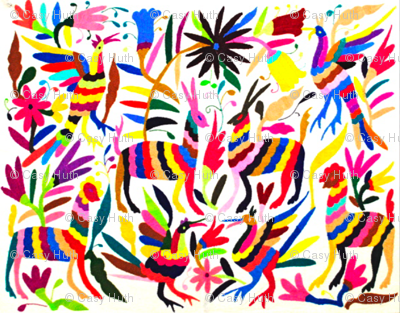 Mexican Otomi inspired fabric.