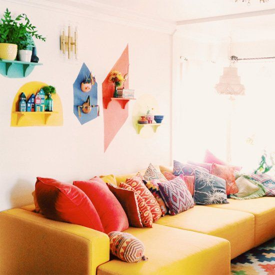 Wall decor · these simple colorful shapes can create a bold statement learn how to create your