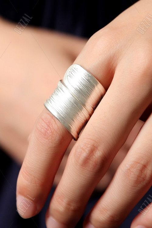 Sujue Silver Silver Cuff Ring | Rings at DEZZAL