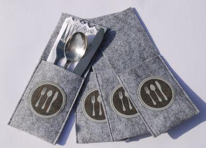 Bestecktasche Gabel Messer Löffel Bestecktasche Besteck