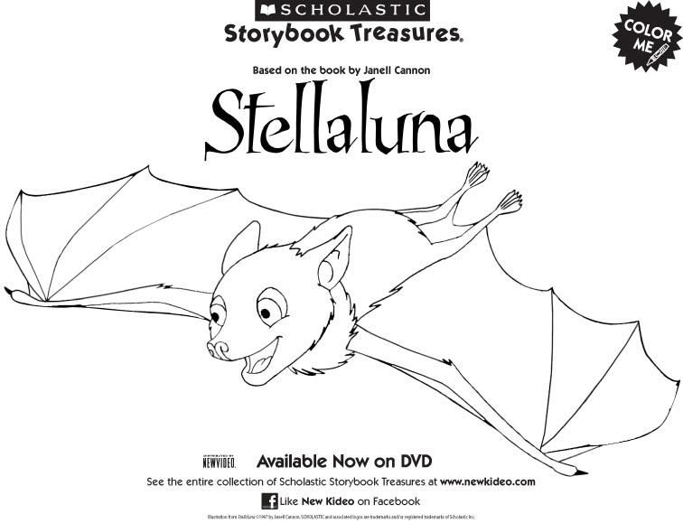 Stella Luna Coloring Page Stellaluna Childrens Books Activities