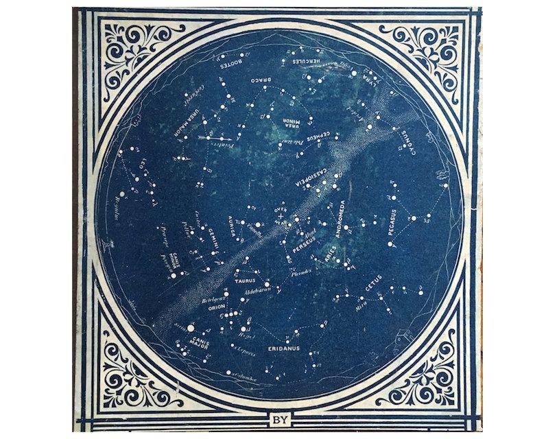 1921 VINTAGE STAR CHART - original vintage lithograph ...
