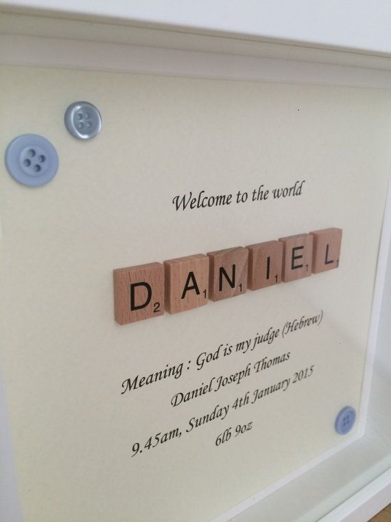 New Baby Scrabble Name Frame | Scrabble, Scrabble frame and Christening