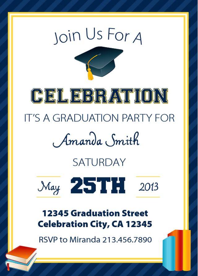 Versatile image regarding free printable graduation invitations