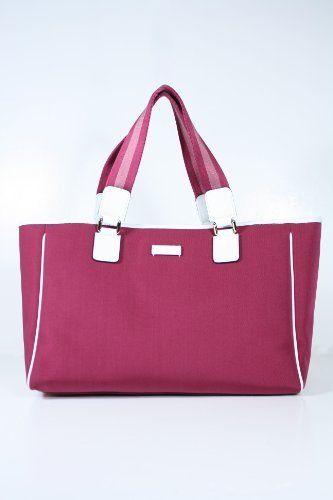 Gucci Handbags Red Pink Fabric And White Leather 264216 Clearance