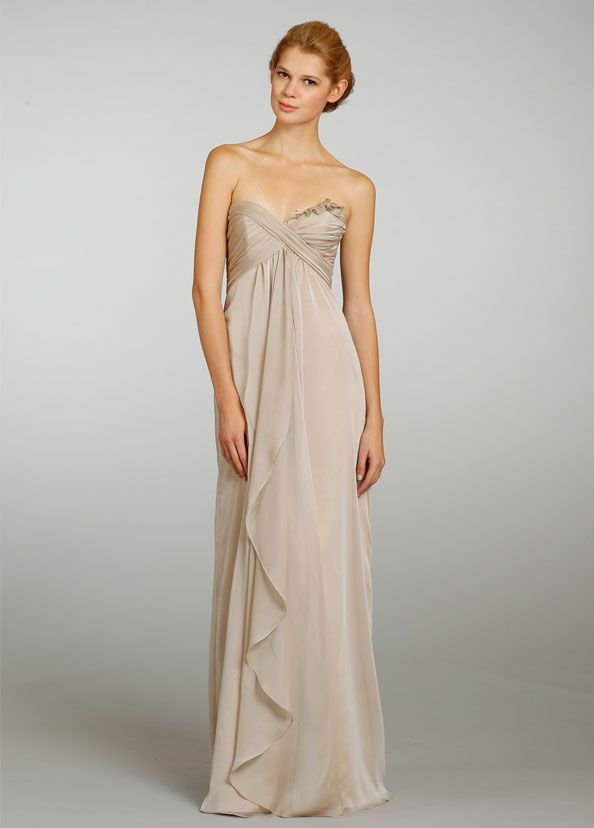 Strapless A-line Sweetheart Empire Bridesmaid Dress