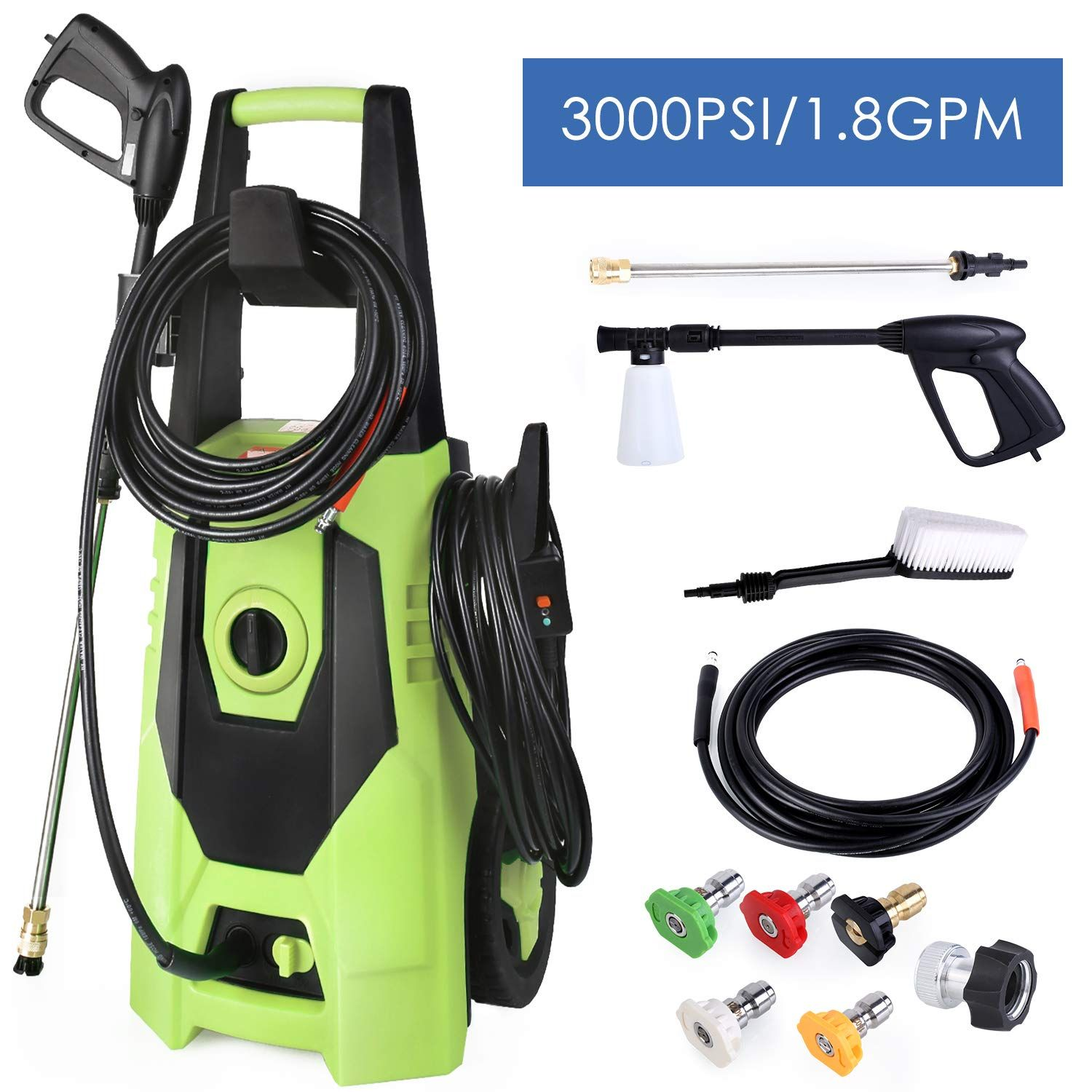 Washer Car Cleaning Water Gun Tool Pressure Power Motorcycle Washing 3000 PSI