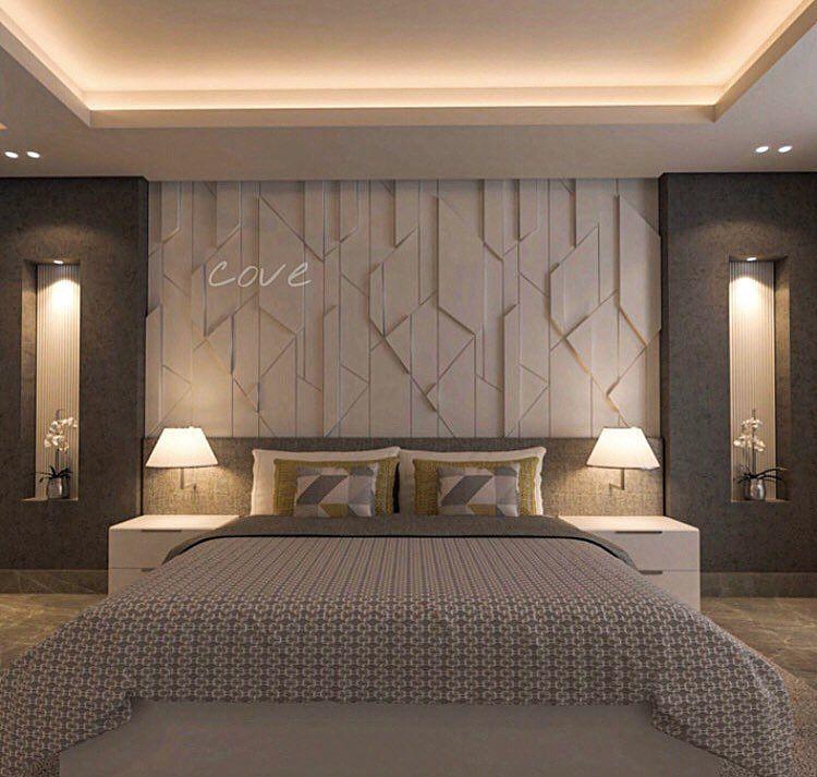 Image May Contain Bedroom And Indoor Modern Bedroom Interior Bedroom False Ceiling Design Bedroom Design