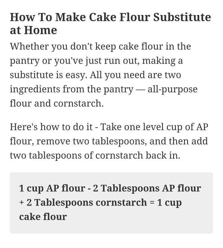 Cake flour substitute flour substitute cake flour