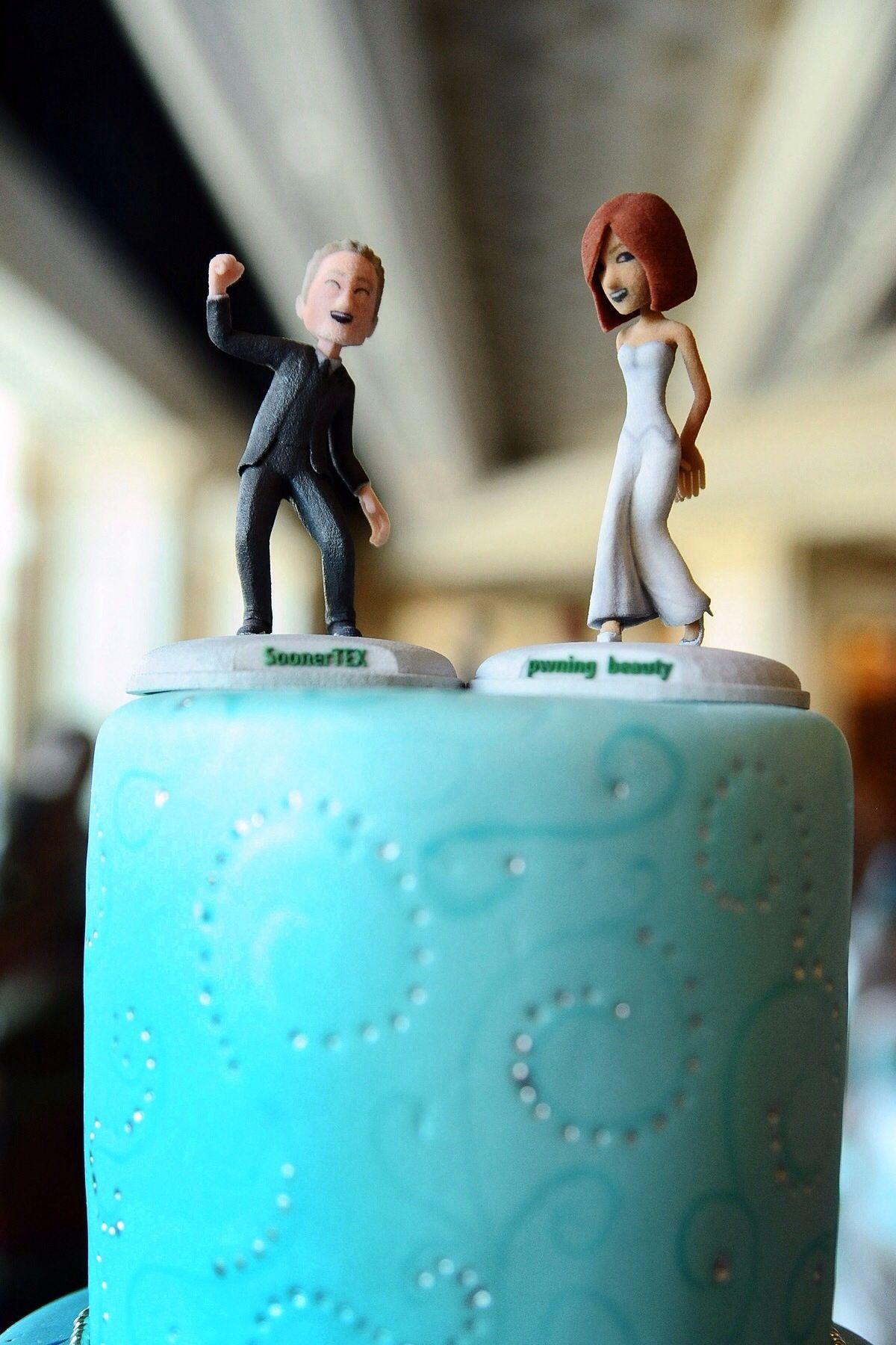Gamer Wedding Cake Toppers
