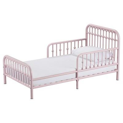 Best Monarch Hill Kids Ivy Metal Toddler Bed Pink Little 640 x 480