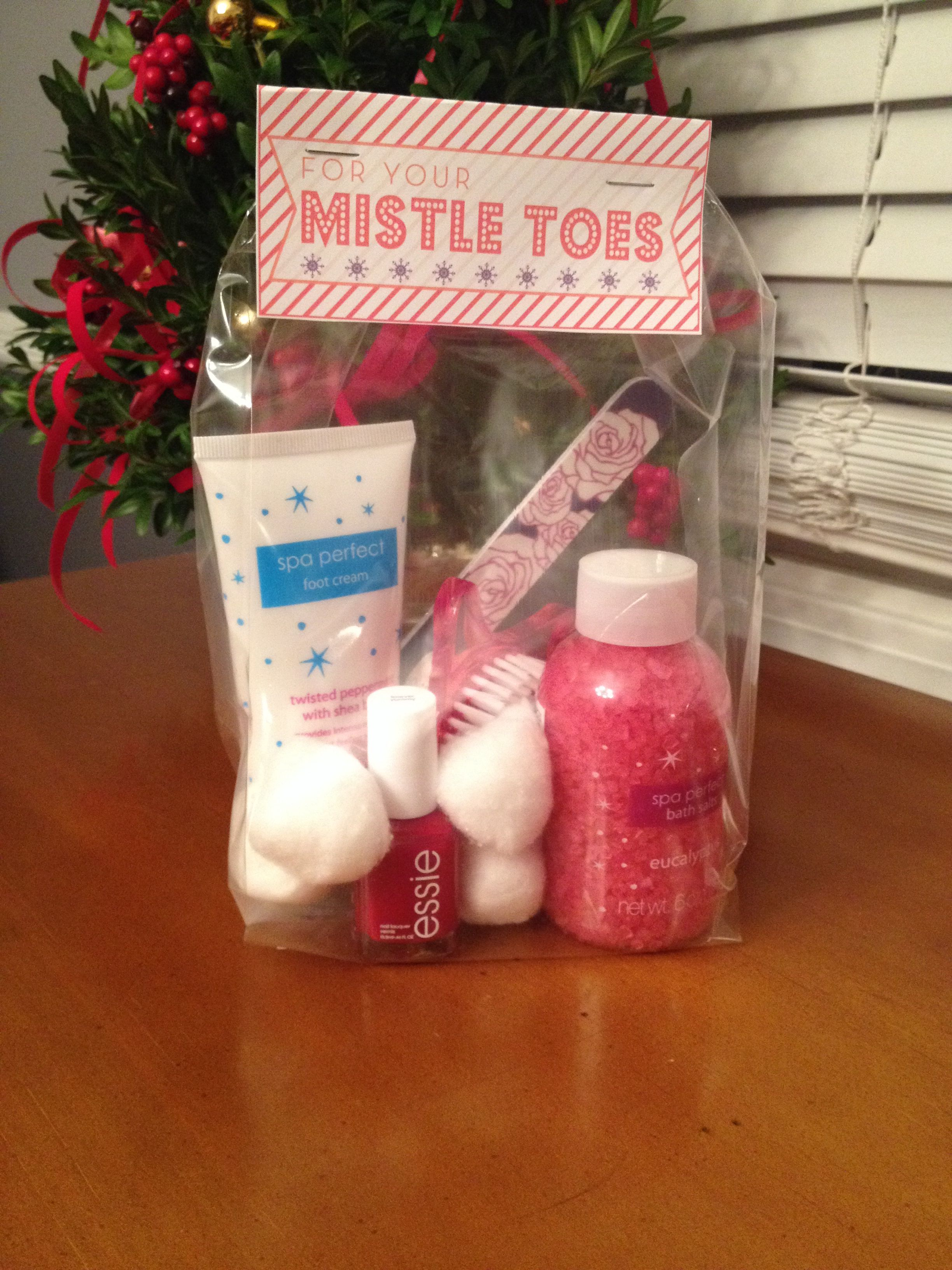 Pedicure Gift For Your Mistletoes Pedicure Gift Teacher Gifts Gifts