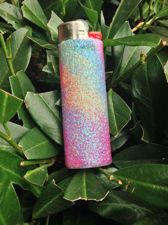 Rainbow Glitter Lighter by EvergreenGrinders on Etsy | 420 ...