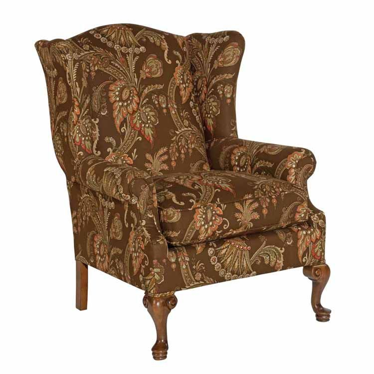 kincaid furniture 028 00 blaire wing back chair 32 wx34 dx41 h inside width 21 depth 20. Black Bedroom Furniture Sets. Home Design Ideas