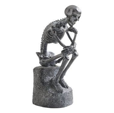 The Skeleton Thinker Statue Must Have Pinterest Skeletons - halloween statues