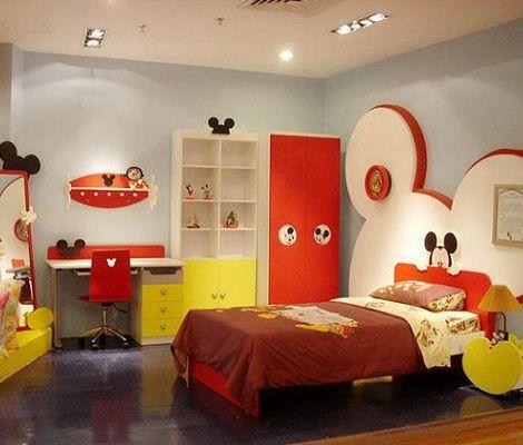 Decoraci n e ideas para mi hogar 7 dormitorios al estilo mickey mouse habitaciones - Dormitorios infantiles tematicos ...