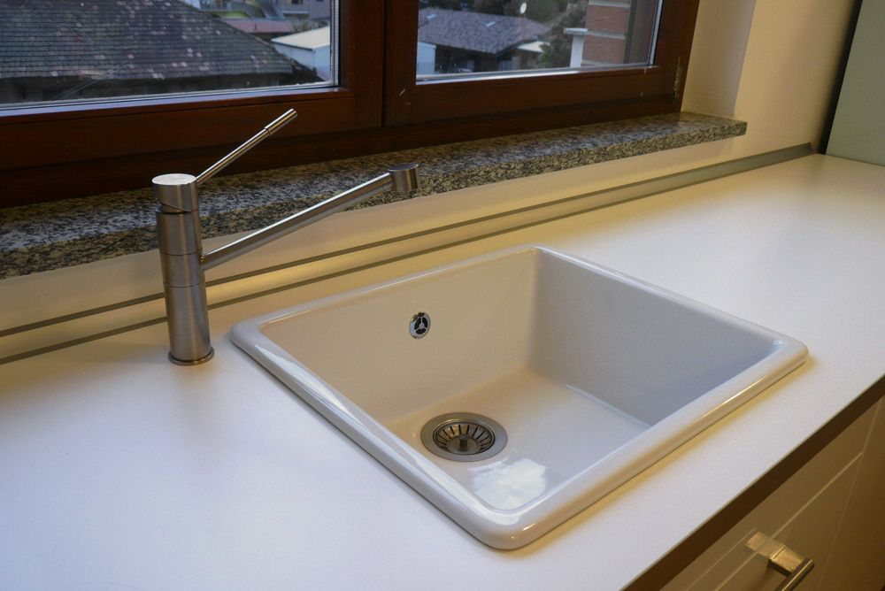 IKEA DOMSJO Inset Sink- faucet would be nice in the right hand ...