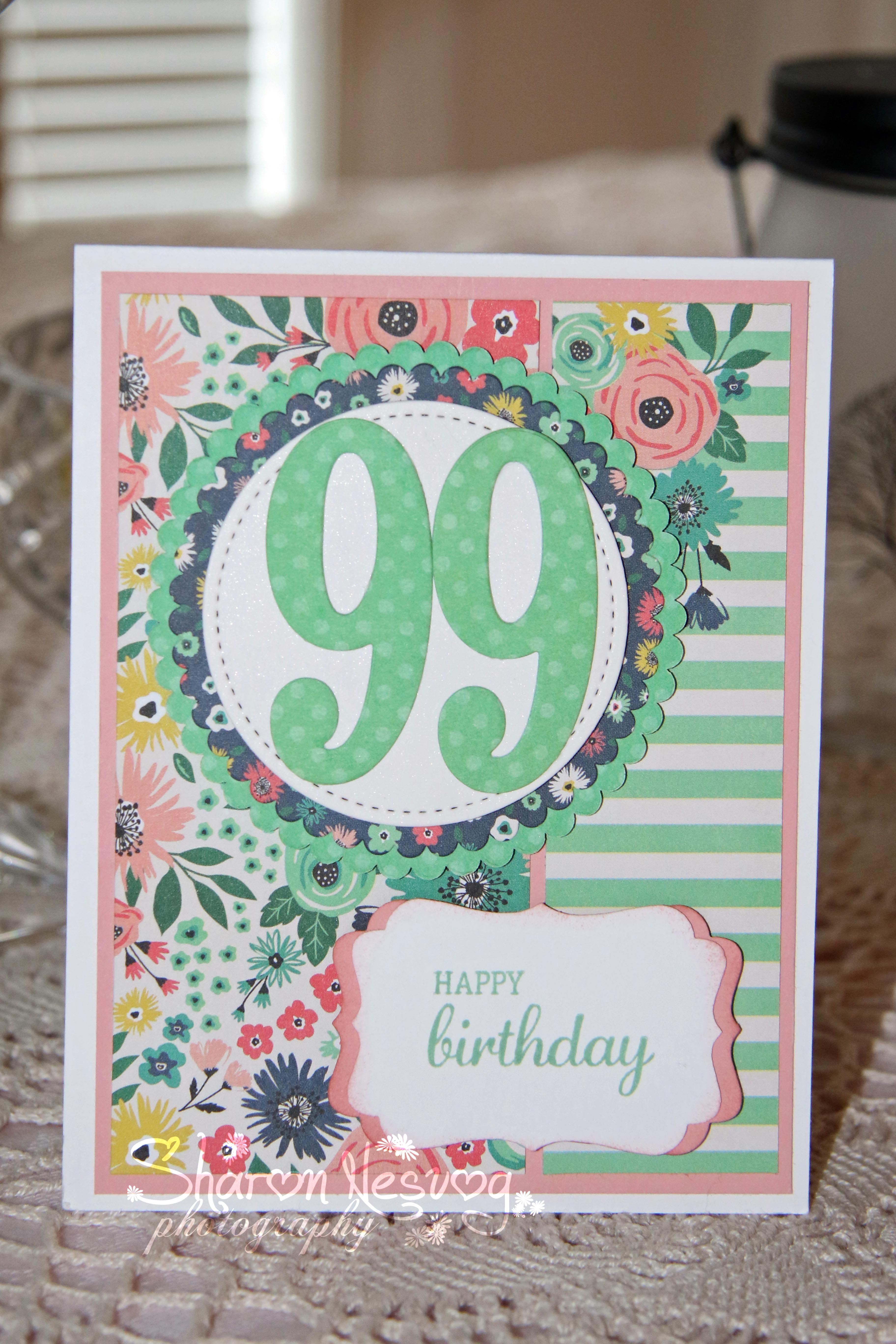 I Created This Birthday Card For My Aunt Who Celebrated Her 99th On Mar 14 2017 Used EchoPark Paper And Some SU Cardstock Cutting Tools