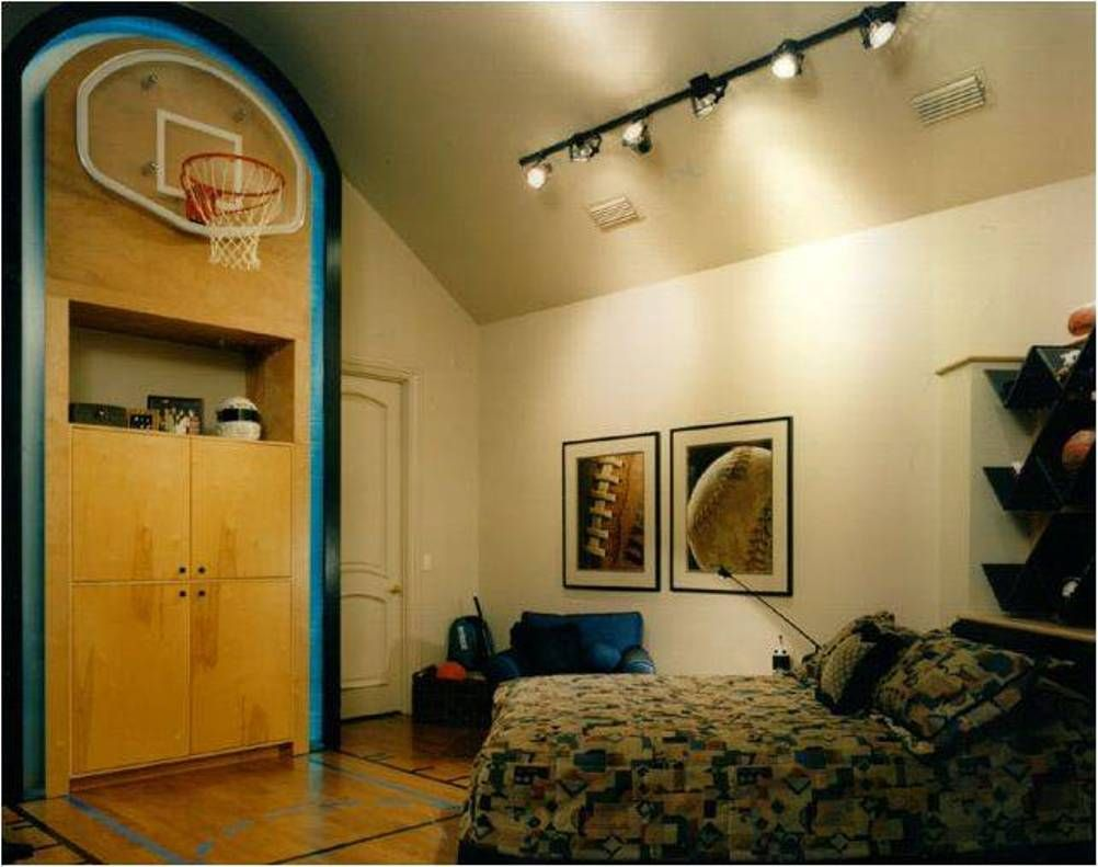 bedroom , cool sports themed bedrooms for boys : sports themed
