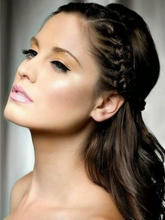 exemple+coiffure+avec+une+fine+tresse.jpg 570 × 760 pixels | Coafuri, Coafuri moderne, Coafuri ...