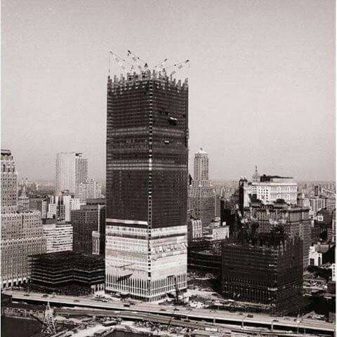 World trade center being built in 1969.