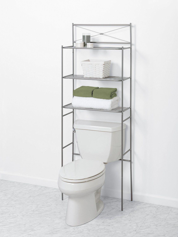 Shortage Remedy Bathroom Organizers Goodworksfurniture In 2020 Over Toilet Storage Bathroom Space Saver Toilet Storage