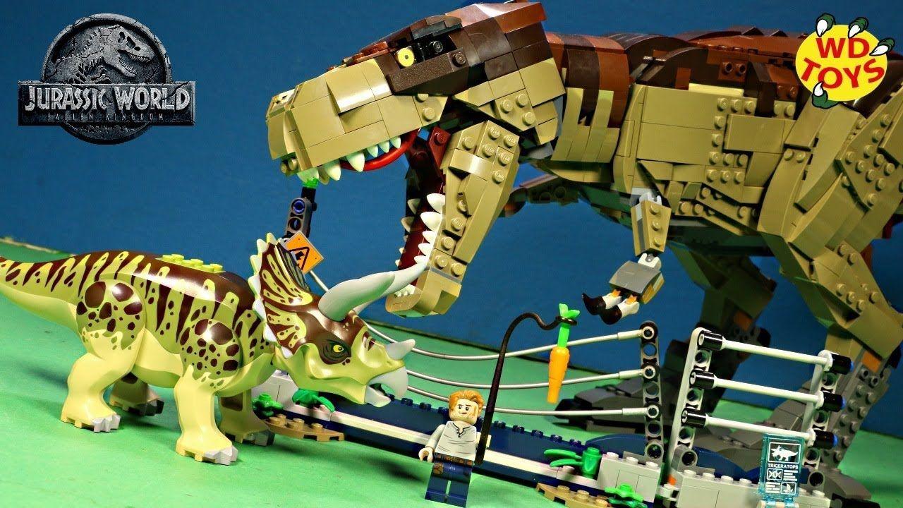 T Rex Eats Triceratops New Lego Jurassic World Triceratops Rampage 759 Lego Jurassic World Jurassic Park Toys Lego Jurassic