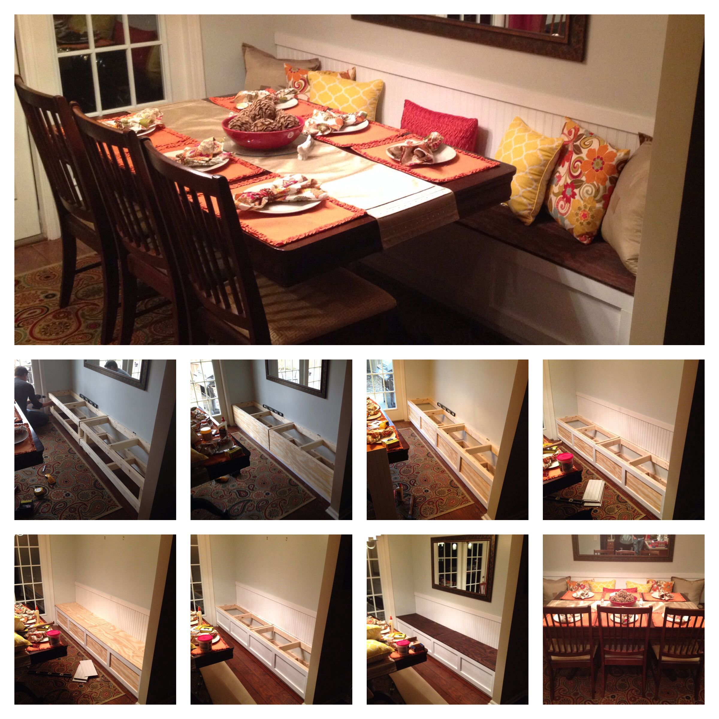 From Cramped To Comfortable Dining Rooms Kitchen Banquette