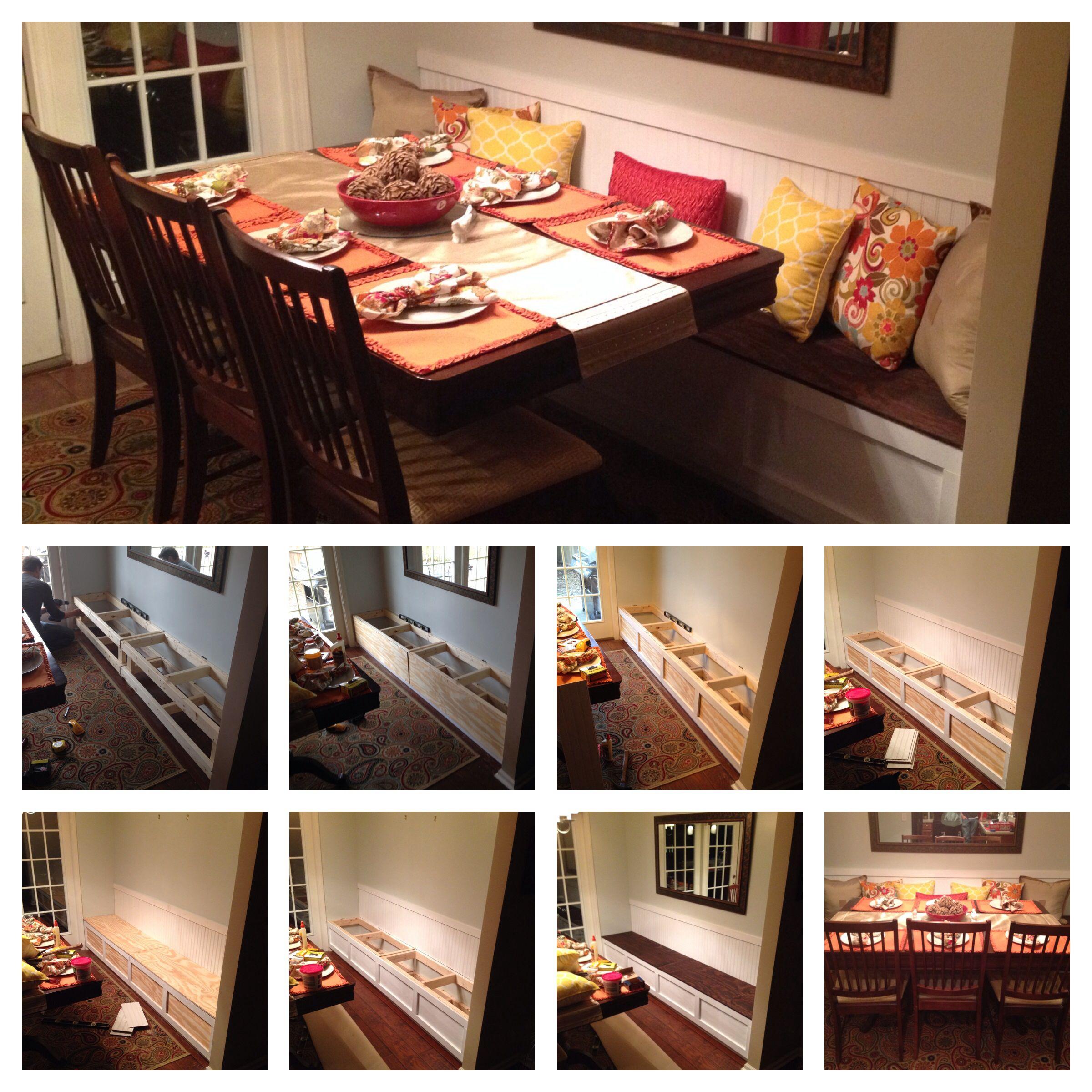 DIY Breakfast Nook Banquette Small Dining Room IdeasTotal Cost 100